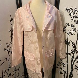 Forever 21 baby pink floral lace raincoat new sm